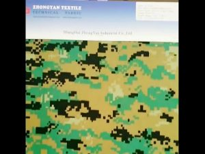 Digital woodland camouflage trykt 1000d nylon lignende cordura vandtæt oxford stof