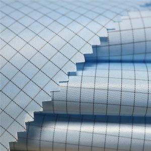 5mm stripe twill polyester antistatisk vævet stof til antistatiske beklædningsgenstande