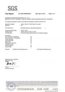 Vævet stof i mørkegrøn til Jacket SGS-certifikater