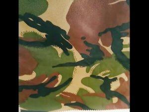 camouflage trykt vandtæt ripstop nylon oxford ensartet militært stof