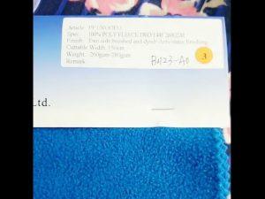 Kina fabrik 100% polyester fleece anti statisk vinterjakke stof