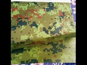 china producent engros camouflage præget regntøj geotextile stof til udendørs stof